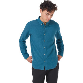 tentree Veddar Flannel LS Shirt Men deep teal